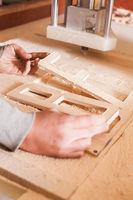 Machine working milling cutter wood