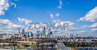 charlotte north carolina city skyline and street scenes