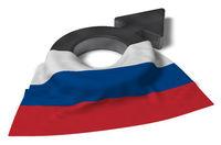 symbol für männlich und flagge von russland - 3d illustration