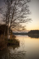 evening at the Lake near Iffeldorf Bavaria Germany
