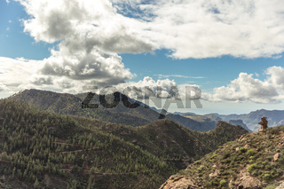 Landschaft mit Wald und Gebirge in Gran Canaria