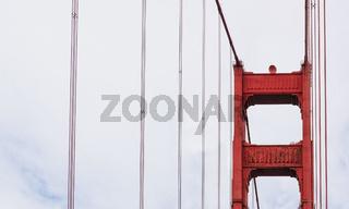 Golden gate Bridge pillar detail