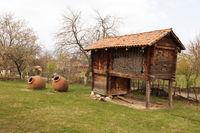 Georgia rural house with big Wine barrel