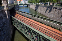 Zollamt Bridge on Wien River in Vienna