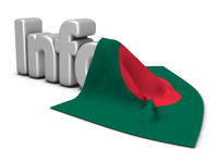 das wort info mit der flagge von bangladesch - 3d rendering