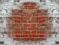 Texture from brick wall covered with salt