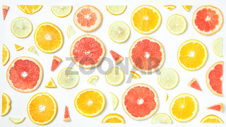 Mix fresh sliced orange, lemon and grapefruit