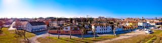 Town of Palmanova skyline panoramic view from city defense walls