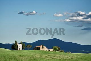 Vitaleta chapel in Val d'Orcia, Tuscany
