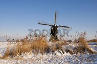 Broekmolen windmill near Streefkerk
