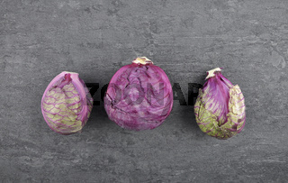 Rotkohl auf Schiefer - Red cabbage on shale