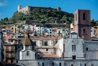 Altstadt und Kastel von Bosa in Sardinien