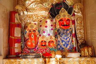 Temple idol, Shree Aai Mathaji Devi, Katraj road, Pune. Maharashtra