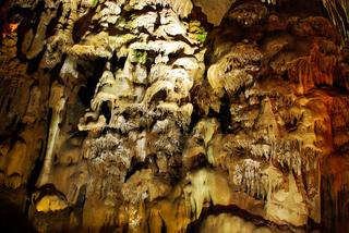 Stalagmites in stone cave