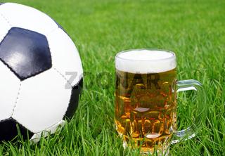 Fußball und Bier