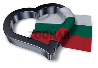 flagge bulgariens und herz