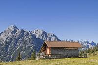 Grasbergalm in the Karwendel mountains