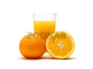 Orangensaft / a glass of orange juice