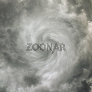 Twisting spiral sky with storm clouds