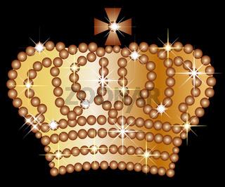 goldene krone auf schwarzem hintergrund