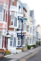 Englische Küstenstadt - Häuser