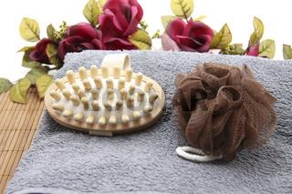 Massagebürste mit Schwamm
