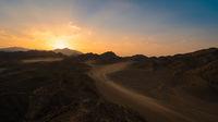 Wonderful egypt desert at sunset