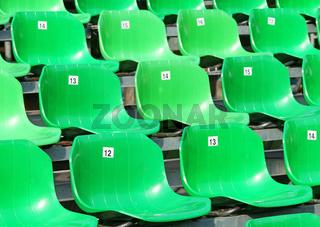 Grüne Sitzreihen - Veranstaltung