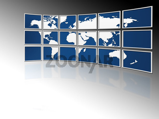 world on tv screens