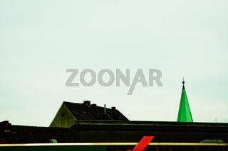 dach, giebel, kirchturm