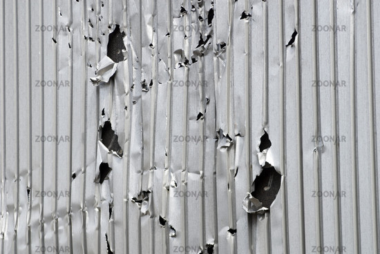 Destroyed wall