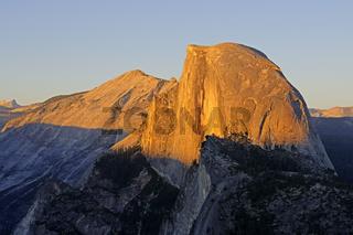 Half Dome, gesehen vom Glacier Point bei Sonnenuntergang, Yosemi