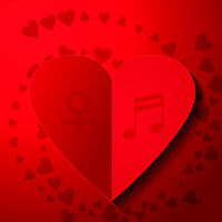 Valentines Lovers card. Heart paper stye.