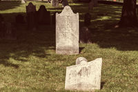 Old jewish cemetery in central park of Boston