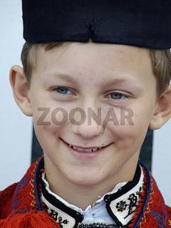 boy in folk costume