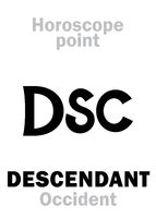Astrology: DSC (Occidental point)