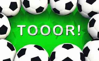 3D - Fussball Konzept - Tooor!