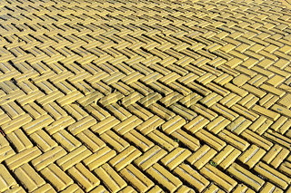 Yellow tiled road background