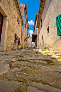 Town of Hum old cobbled street view