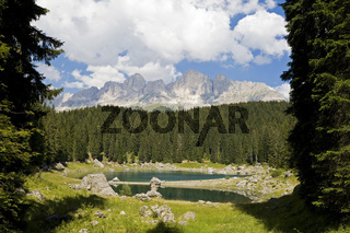 Karersee (Lago di Carezza), Suedtirol, Italien, Karersee, South Tyrol, Italy