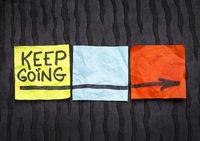 keep going motivation concept