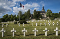 War Cemetery Chatillon-sur-Marne with Church