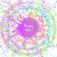 Happy Holi festival of colors greeting vector