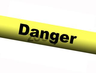 Yellow Danger Barrier Tape