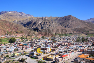 View of Chivay town from overlook, Peru