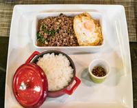 Beef basil rice