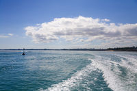 Wake of Fast Catamaran Leaving Darwin