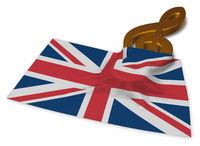 notenschlüssel und flagge von Großbritannien - 3d illustration