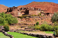 Berber rural architecture of Atlas Mountains region in Morocco.