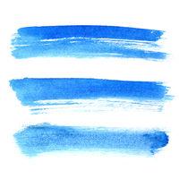 Blue brush strokes